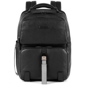 Zaino Piquadro fast-check porta PC e iPad in pelle Modus Special nero