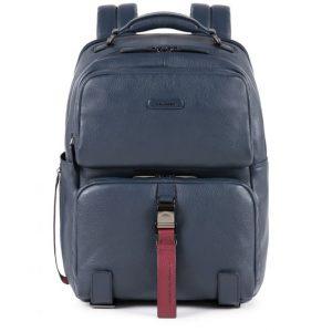 Zaino Piquadro porta PC e iPad in pelle Modus Special blu