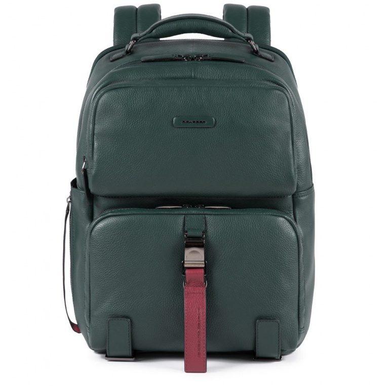 Zaino Piquadro porta PC e iPad in pelle Modus Special verde