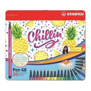 Pennarelli STABILO Pen 68 Limited Edition Scatola in metallo 20 colori