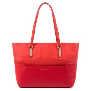 Borsa Piquadro shopping bag porta pc in pelle Hosaka rosso