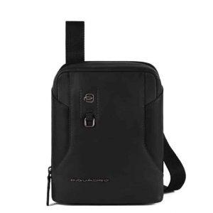 Borsello Piquadro porta iPad mini in pelle Hakone nero