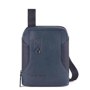 Borsello Piquadro porta tablet mini in pelle Hakone blu