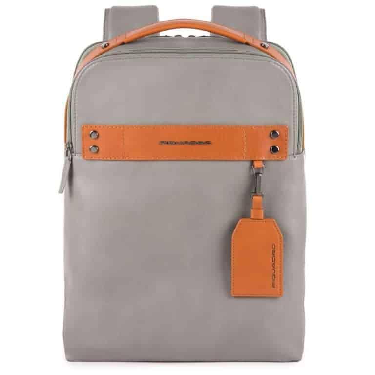 Zainetto Piquadro porta pc e porta iPad in pelle Sendai grigio
