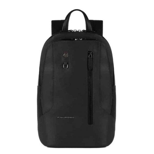 Zaino Piquadro porta pc e porta iPad in pelle Hakone nero