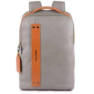 Zaino Piquadro porta pc e porta iPad in pelle Sendai grigio