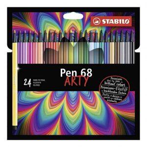 Pennarello Stabilo PEN68 Arty Confezione 24 Colori assortiti