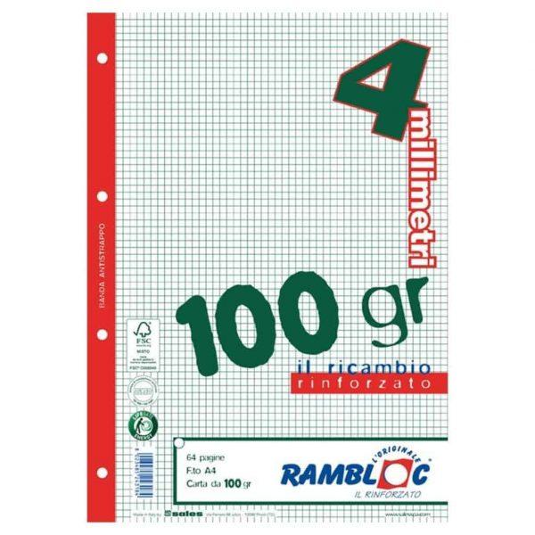 Rambloc ricambi rinforzati per copertine ad anelli 21x29