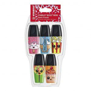 Stabilo Boss Mini Sweet Friends confezione 5 Colori diversi