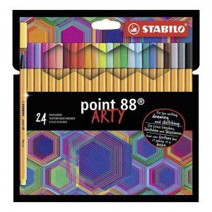 Stabilo pennarello punta fine Point 88 ARTY Confezione 24 Colori diversi