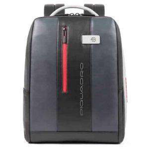 Zaino Piquadro porta PC/iPad con cavo antifurto in pelle Urban grigio nero