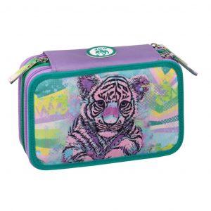 Astuccio WWF 3 zip girl viola for a living planet tigre