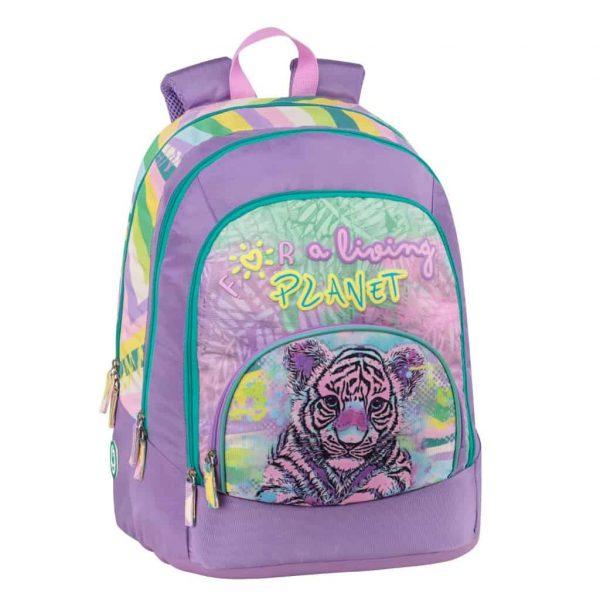 Zaino WWF for a living planet advance girl viola tigre