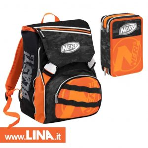 Nerf Nation School Pack Zaino Estensibile+Astuccio