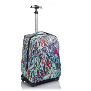 Trolley Invicta BENIN ABSTRACT JUNGLE 35 lt Azzurro