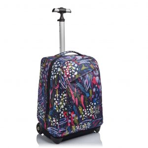 Trolley Invicta BENIN ABSTRACT JUNGLE 35 lt Viola