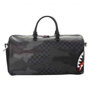 Borsone Sprayground 3AM Checkered Camo Black