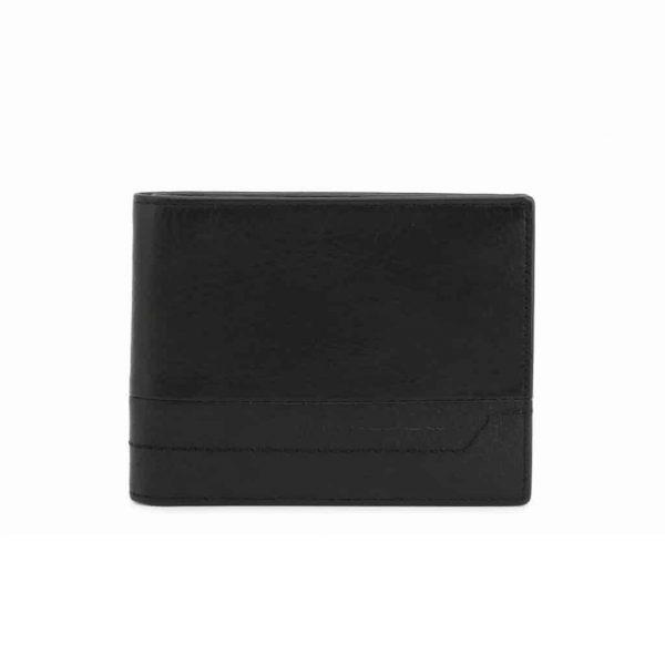 Portafoglio Piquadro uomo 12 porta carte credito in pelle Pan nero