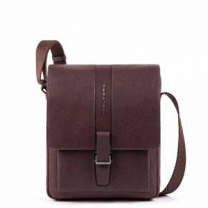 Borsello Piquadro sottile porta iPad in pelle marrone