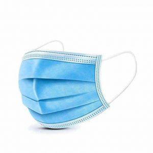 Mascherine Certificata CE DPI a 3 veli azzurro 10 pezzi