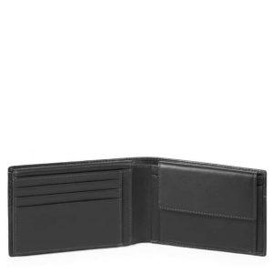 Portafoglio Piquadro uomo con porta documenti in pelle Urban nero
