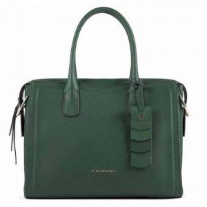 Shopping bag Piquadro donna porta computer in pelle Gea verde