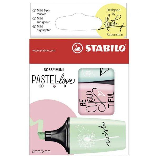 Stabilo Boss Mini Pastel Love Carta da Zucchero