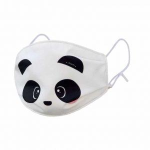 What a Mask! Mascherina in Tessuto per Bambini PANDA