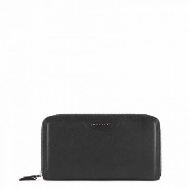 Portafoglio Piquadro donna con porta smartphone in plle Gea nero