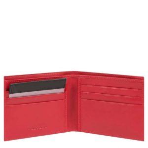 Portafoglio Piquadro uomo in nylon rigenerato PQ-BIOS rosso