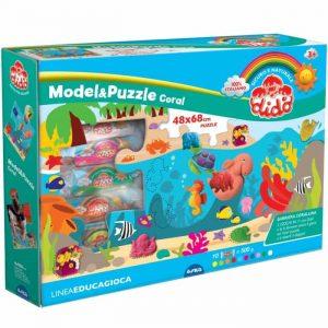 Dido' Model & Puzzle Coral Pasta da Modellare + Puzzle