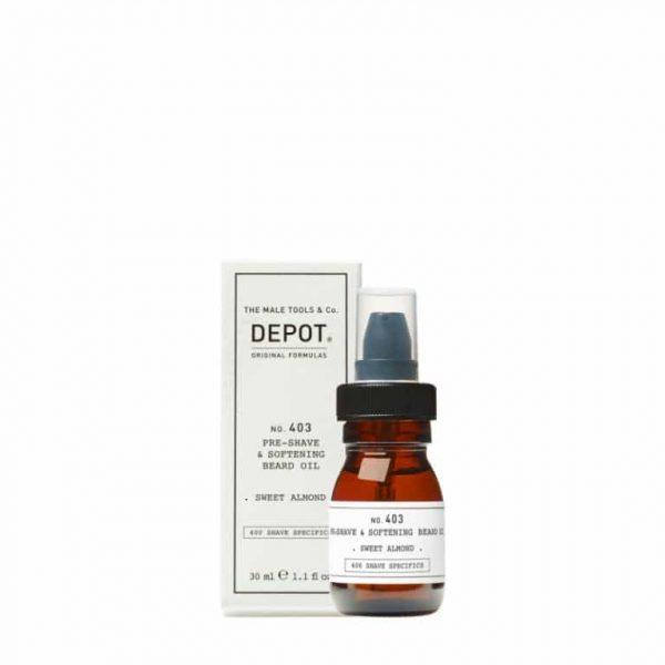 DEPOT 403 Pre-Shave&Softening Beard Oil Sweet Almond 30ml