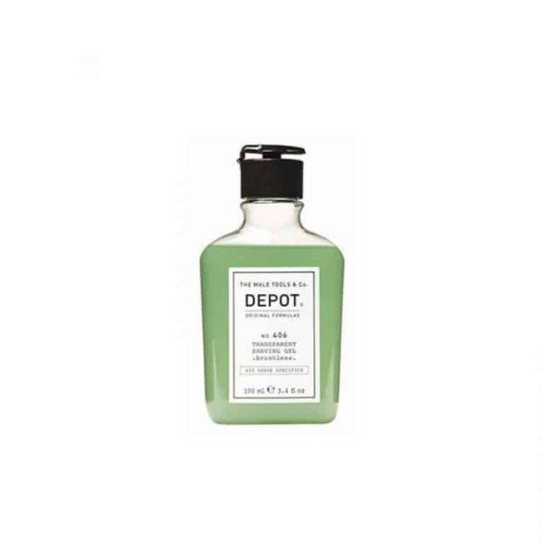 DEPOT 406 Transparent Shaving Gel Brushless 100ml