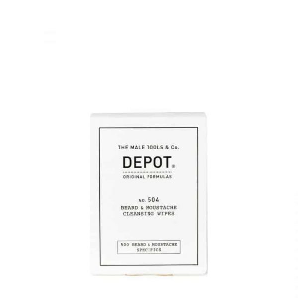 DEPOT 504 Beard&Moustache Cleansing Wipes 12 Bustine