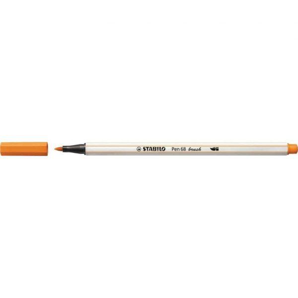 Pennarello Stabilo PEN68 Brush Arancio