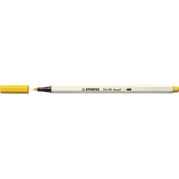Pennarello Stabilo PEN68 Brush Giallo