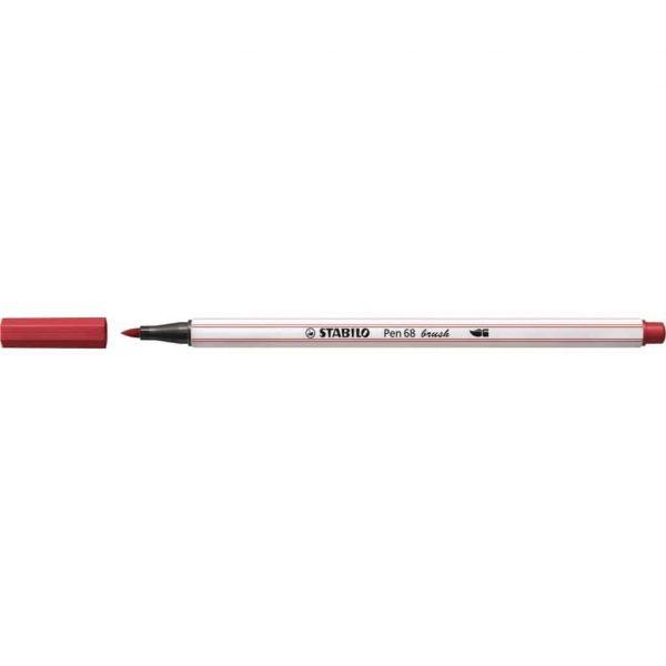 Pennarello Stabilo PEN68 Brush Rosso Scuro