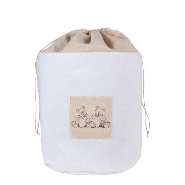 Sacco in tessuto di lino medio con Orsetti MATHILDE M