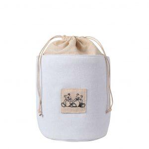 Sacco in tessuto di lino piccolo con Orsetti MATHILDE M