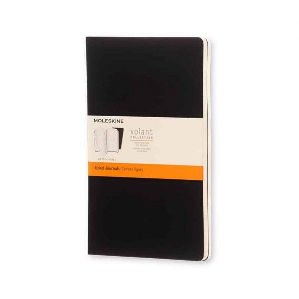 Set 2 Quaderni Moleskine Volant Journal 13x21 Righe Nero
