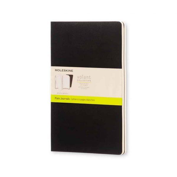 Set 2 Quaderni Moleskine fogli bianchi Volant  13x21  Nero morbido