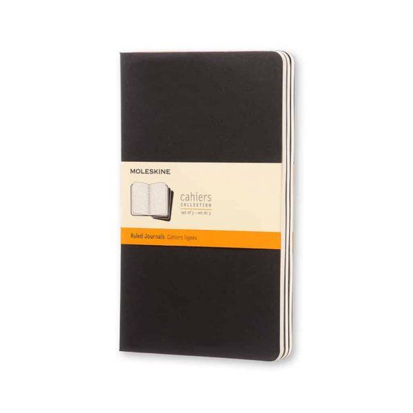 Set 3 Quaderni Moleskine Cahier Journal 13x21 Righe Nero