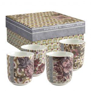 Set di 4 tazze da caffè Madame de Montespan Mathilde M