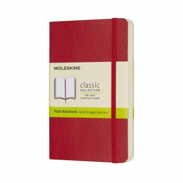 Taccuino Moleskine Copertina Morbida 9x14 Pagine Bianche Rosso
