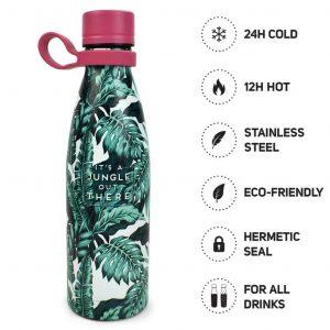 Borraccia Legami 500ML Inox 304 Hot & Cold-Jungle
