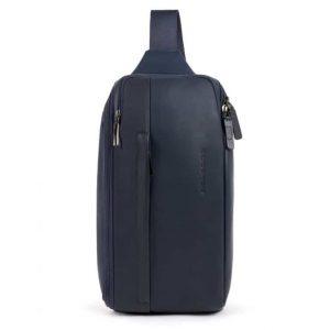 Monospalla Piquadro porta iPad mini in pelle Falstaff blu