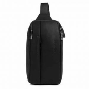 Monospalla Piquadro porta iPad mini in pelle Falstaff nero