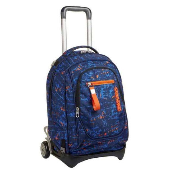 Trolley New Tech Seven Penn Boy Blu Sganciabile Lavabile
