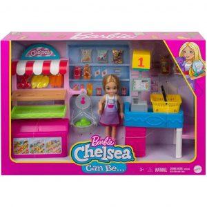 Barbie Playset Chiosco degli Snack con Bambola Chelsea