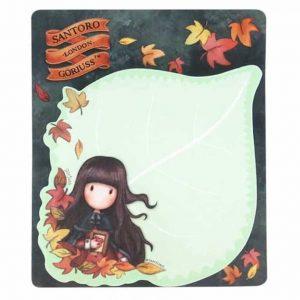 Blocco Memo Gorjuss Autumn Leaves